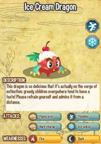 Đặc điểm thuộc tính của Ice Cream Dragon