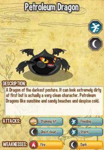 Giới thiệu về Petroleum Dragon trong game Dragon City, petroleum dragon, cach tao petroleum dragon, game dragon city, cac loai rong dragon city