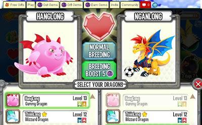 Công thức và thời gian lai tạo các loại rồng trong game Dragon City, cach lai tao rong dragon city, game dragon city, dragon city facebook