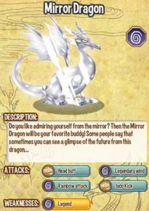Giới thiệu về rồng huyền thoại Mirror Dragon trong game Dragon City, mirror dragon, game dragon city, cach tao rong huyen thoai, cac loai rong dragon city