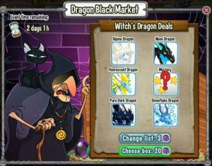 Hướng dẫn chơi Black Market trong game Dragon City