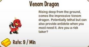 Giới thiệu về Venom Dragon trong game Dragon City, venom dragon, game dragon city, dragon city, cach tao venom dragon city, cac loai rong dragon city